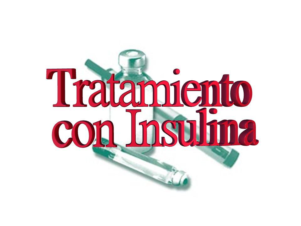 Aproximadamente de la mitad a los dos tercios de la dosis total diaria de insulina se administra para cubrir las necesidades basales y debe ser una insulina de acción prolongada.
