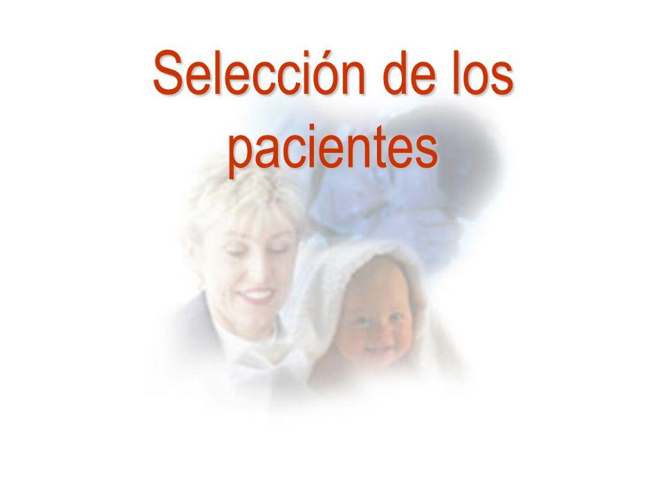 Selección de los pacientes