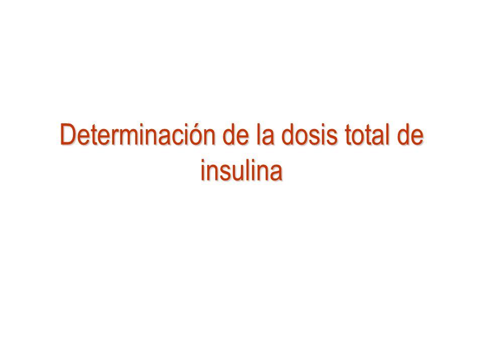 Determinación de la dosis total de insulina