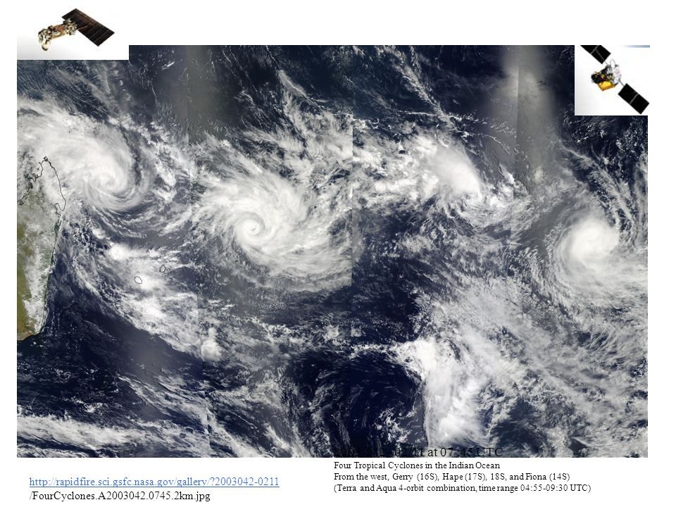 http://rapidfire.sci.gsfc.nasa.gov/gallery/?2003042-0211 /FourCyclones.A2003042.0745.2km.jpg 2003/042 - 02/11 at 07 :45 UTC Four Tropical Cyclones in