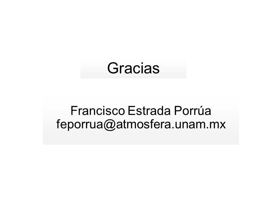Gracias Francisco Estrada Porrúa feporrua@atmosfera.unam.mx