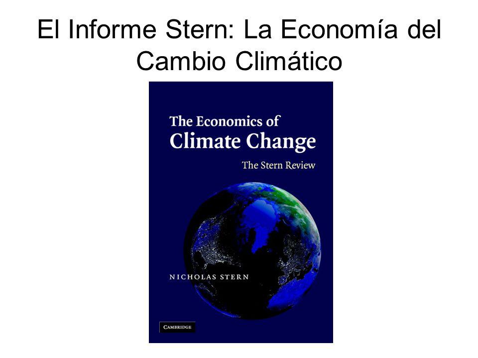 Modelo Estocástico de Evaluación Integrada M-CCA/UNAM Incertidumbre en la temperatura global –Rango de salidas de los MCG del AR4 (para distintos escenarios SRES, de estabilización o de metas 1, 2, 3, 4 ºC) Incertidumbre en la regionalización –Patrones de escala de 20 MCG 2.5x2.5º Funciones de impacto probabilísticas basadas en el PAGE2002 Dos sectores: con y sin mercado Escenarios socioeconómicos consistentes con el SRES