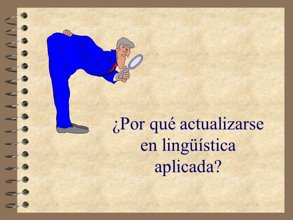 ¿Por qué actualizarse en lingüística aplicada