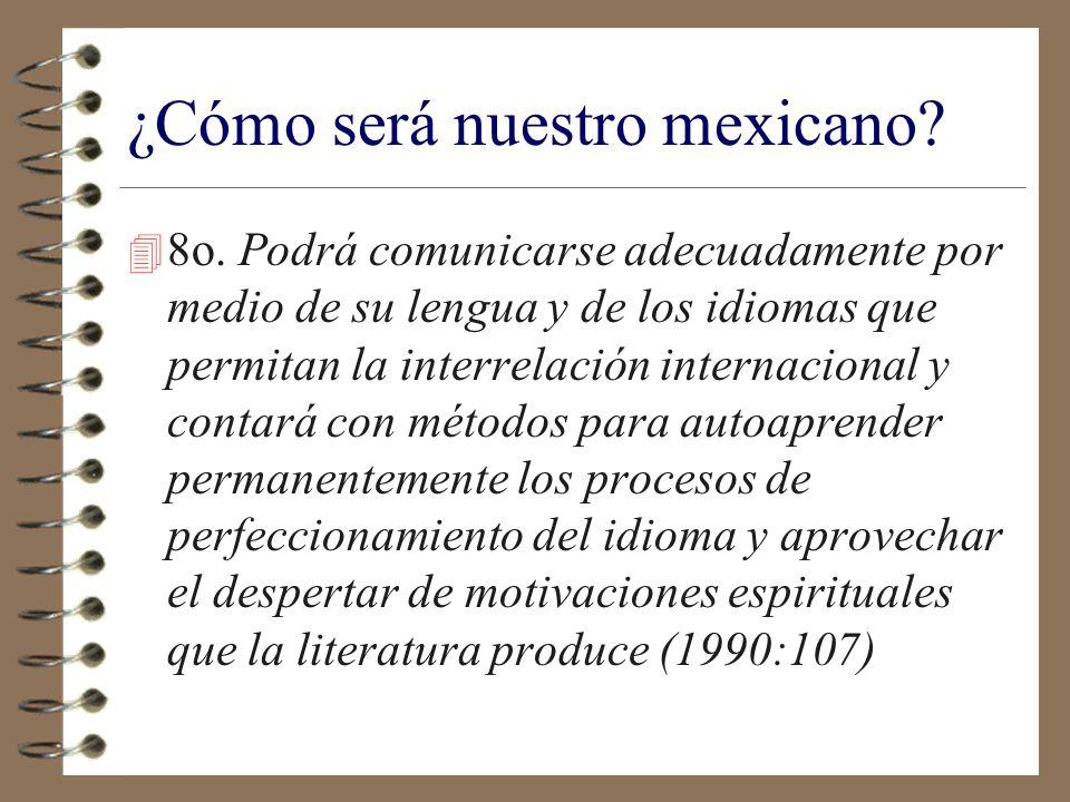 Núcleo básico de conocimientos y destrezas del profesional que México requiere: 4 1o.