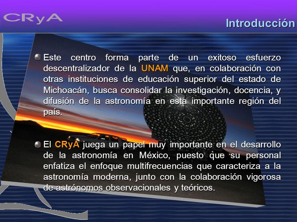 MisiónMisión Mantener líneas de investigación en astronomía innovadoras, de alto nivel e impacto así como abrir nuevas líneas en áreas de la astrofísica moderna que aún no se practican en el país.