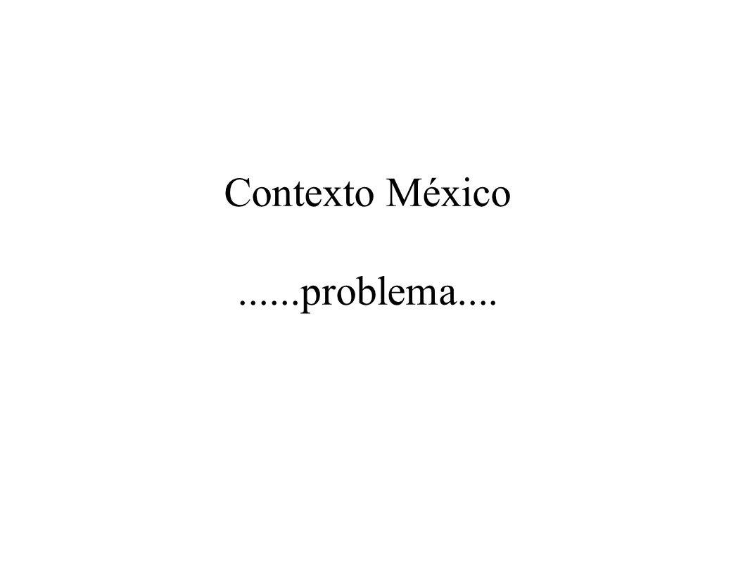 Contexto México......problema....