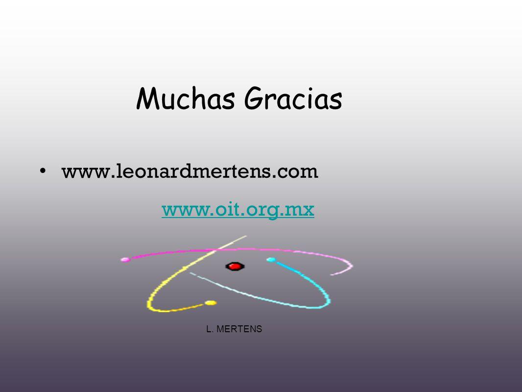 L. MERTENS Muchas Gracias www.leonardmertens.com www.oit.org.mx