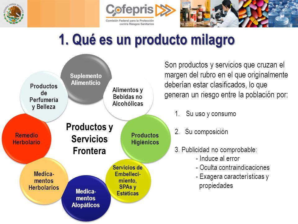 1. Qué es un producto milagro Productos y Servicios Frontera Son productos y servicios que cruzan el margen del rubro en el que originalmente deberían
