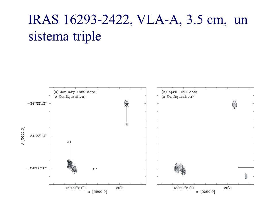 IRAS 16293-2422, VLA-A, 3.5 cm, un sistema triple