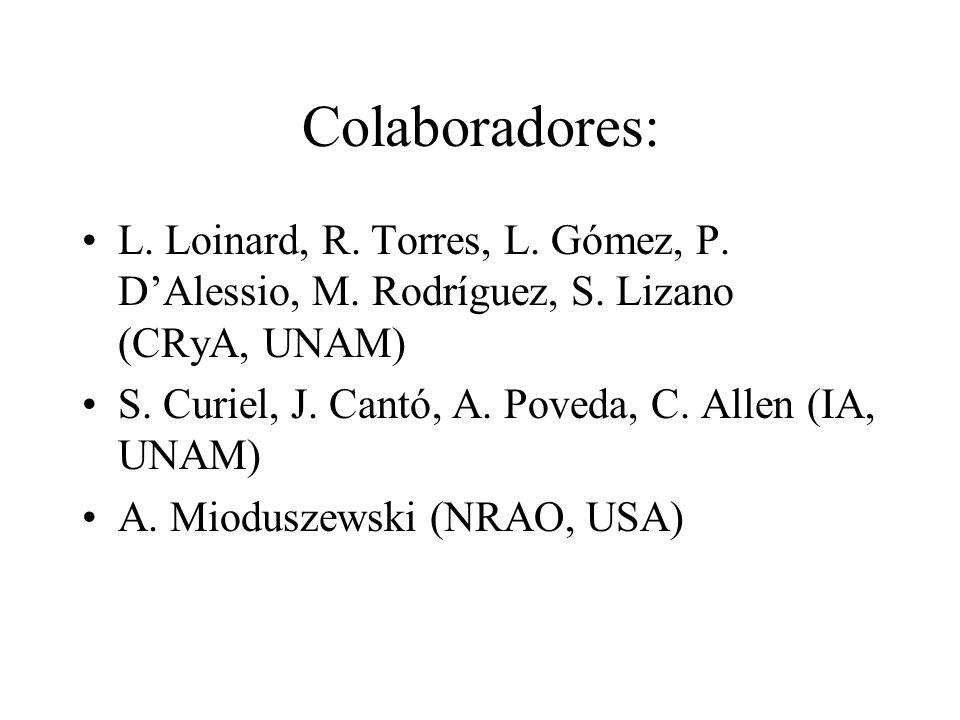 Colaboradores: L.Loinard, R. Torres, L. Gómez, P.