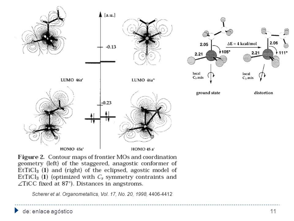 de: enlace agóstico11 Scherer et al. Organometallics, Vol. 17, No. 20, 1998, 4406-4412