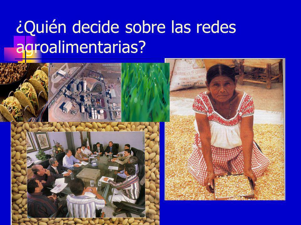 ¿Quién decide sobre las redes agroalimentarias?