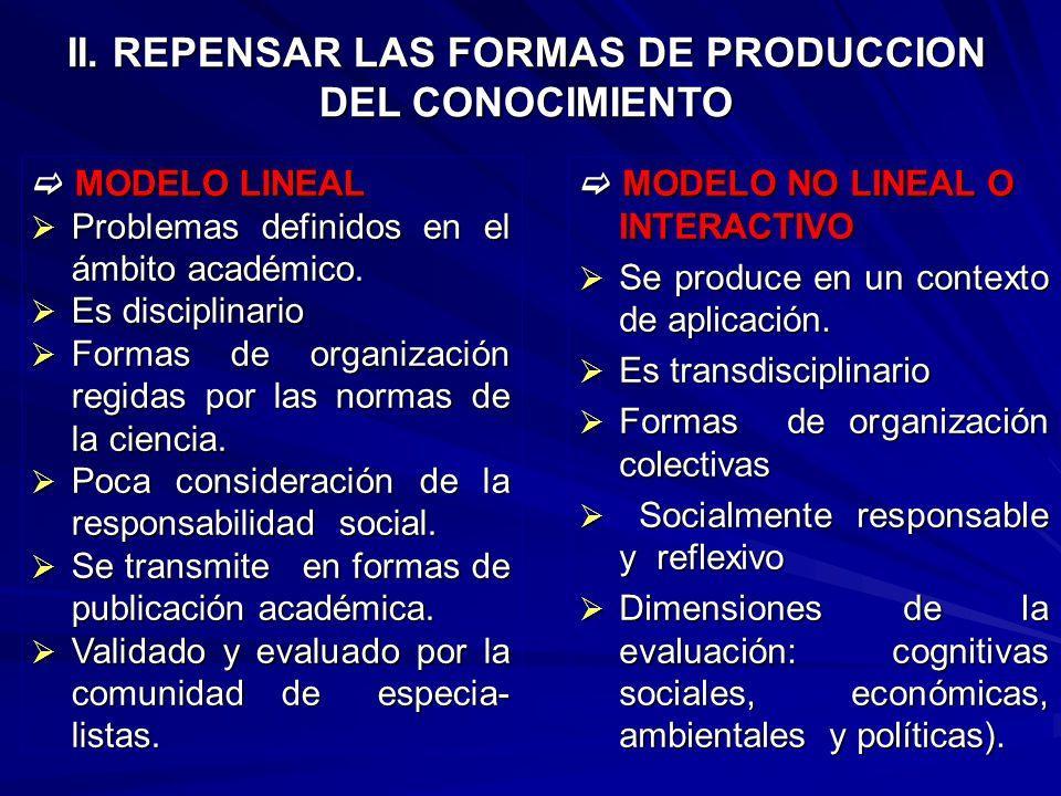 I. CONCILIAR LAS CONCEPCIONES EN DEBATE Concepción académica: basado en una concepción ofertista.