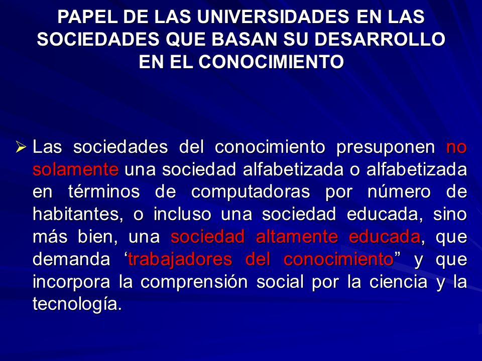 CONCEPTOS A DEBATE ECONOMIAS DE LA INFORMACION Y DEL CONOCIMIENTO USO DE LAS TICs (DIGITAL DIVIDE) PRODUCTIVIDAD COMPETITIVIDAD CRECIMIENTO ECONOMICO SOCIEDADES QUE BASAN SU DESARROLLO EN EL CONOCIMIENTO CAPACIDAD CREATIVA TALENTO INNOVADOR REDES, INTERACCION Y COOPERACION ACCESO Y DISTRIBUCION EQUIDAD Y BIENESTAR SOCIAL