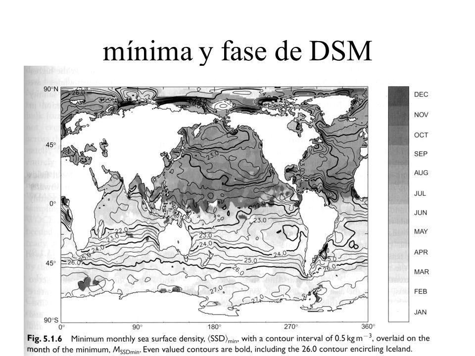 mínima y fase de DSM