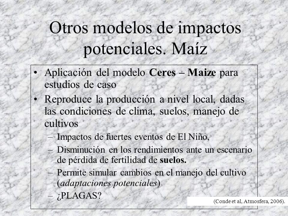 Otros modelos de impactos potenciales.