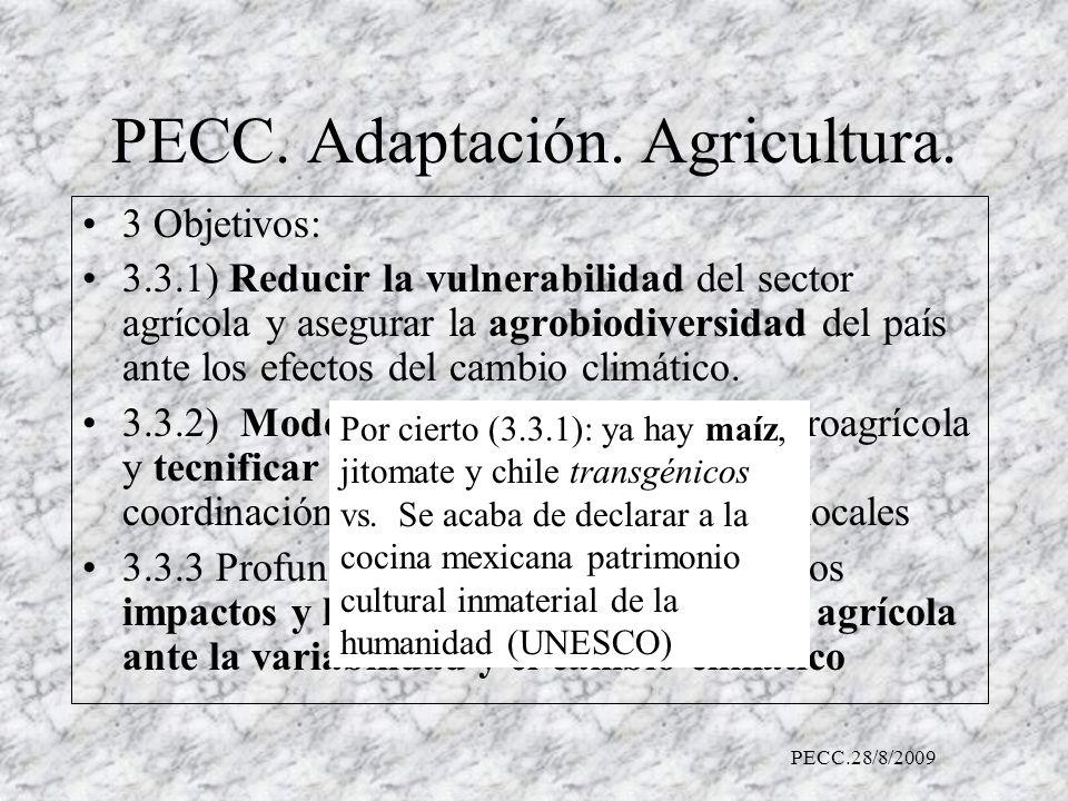 PECC.Adaptación. Agricultura.