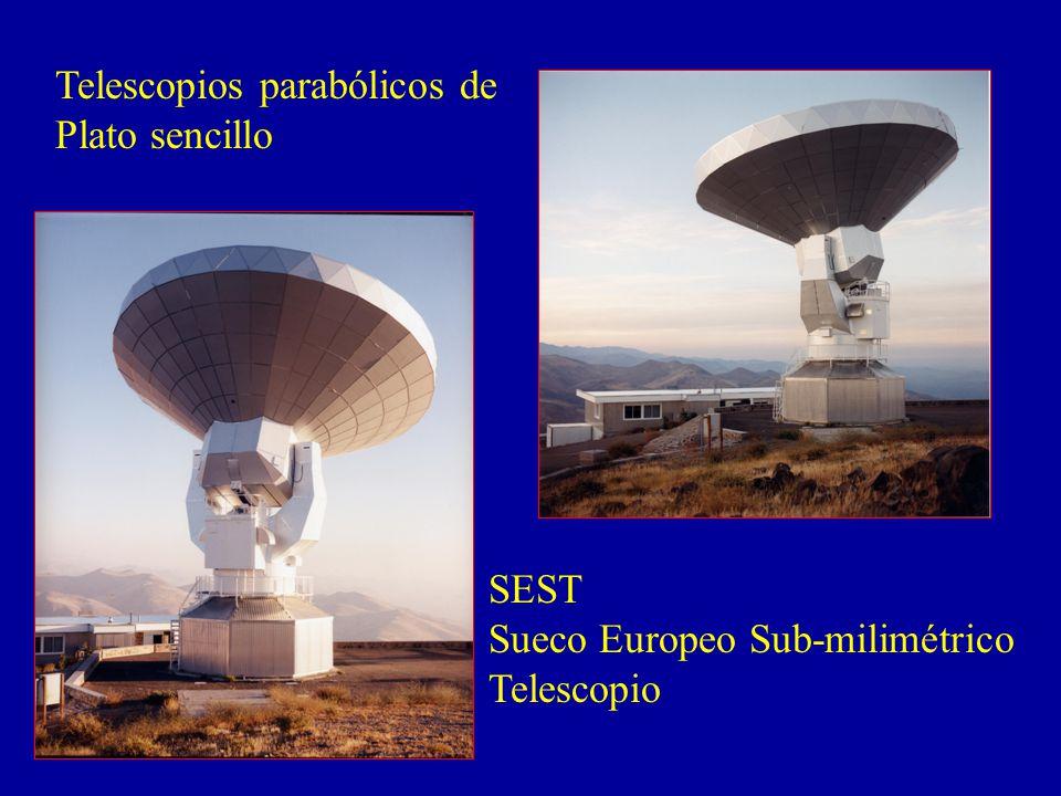 Telescopios parabólicos de Plato sencillo SEST Sueco Europeo Sub-milimétrico Telescopio