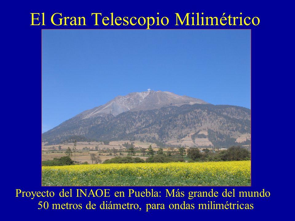 El Gran Telescopio Milimétrico Proyecto del INAOE en Puebla: Más grande del mundo 50 metros de diámetro, para ondas milimétricas