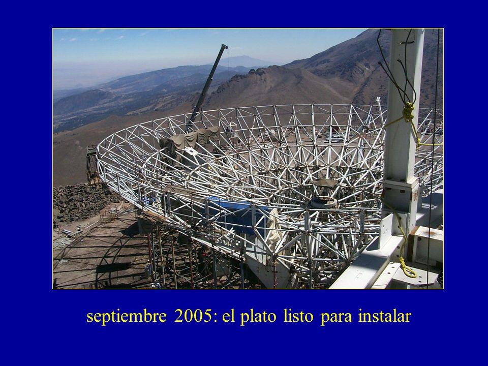 septiembre 2005: el plato listo para instalar