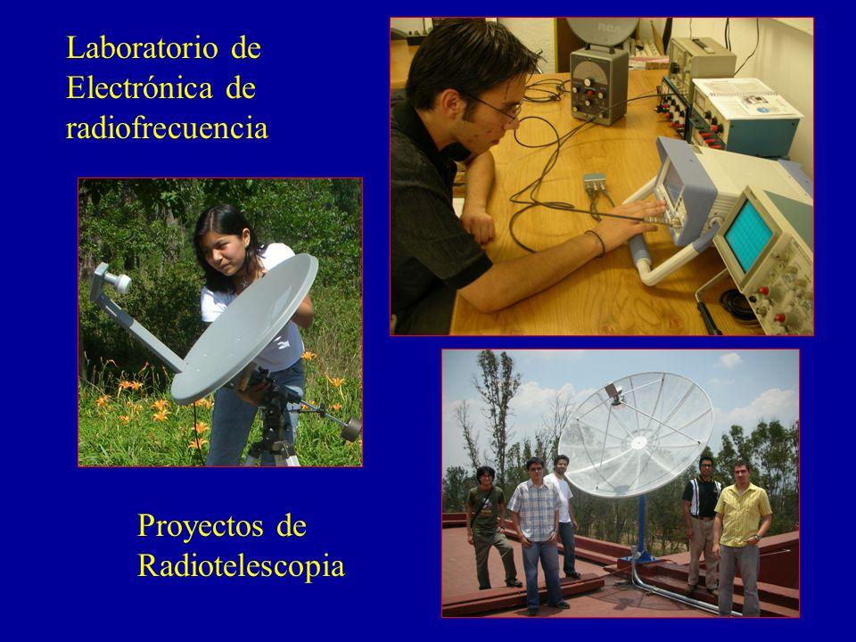 Laboratorio de Electrónica de radiofrecuencia Proyectos de Radiotelescopia