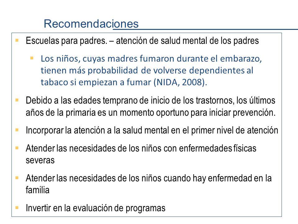 Recomendaciones Escuelas para padres.
