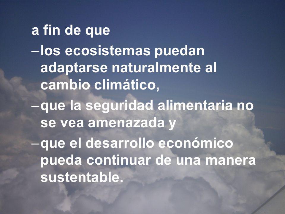 Convención de Cambio Climático Artículo 4.1 (a) México es un país que de acuerdo a la Convención de Cambio Climático, no tiene el compromiso de reducir emisiones de gases efecto invernadero.