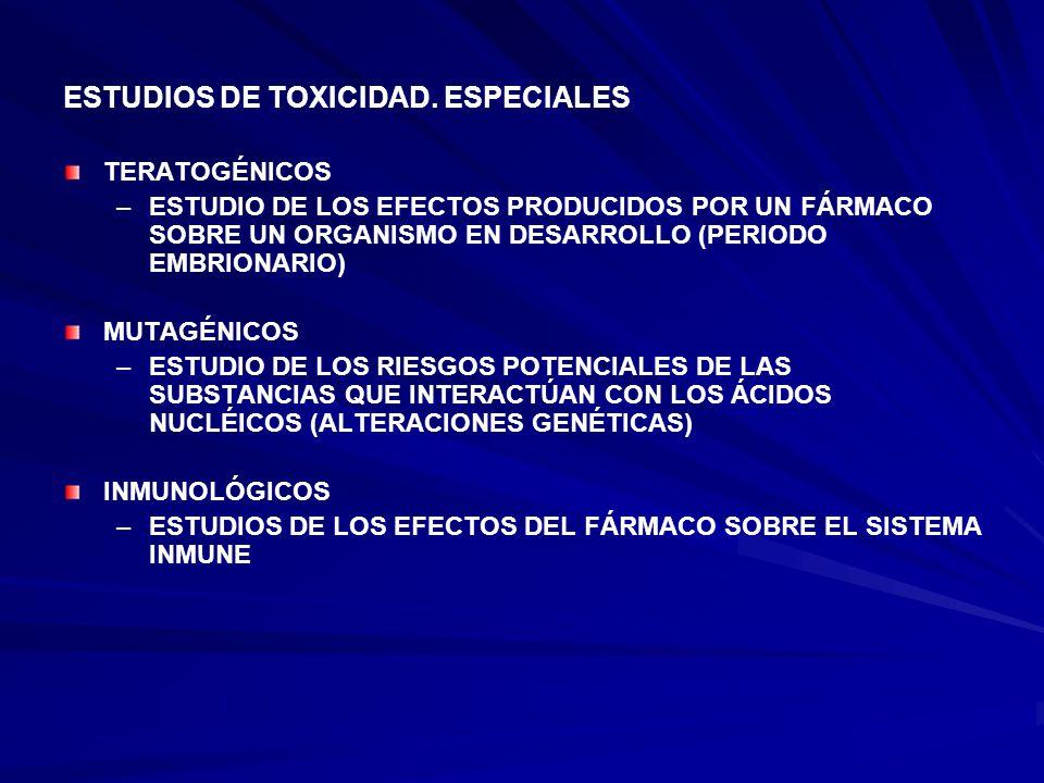 ESTUDIOS DE TOXICIDAD.