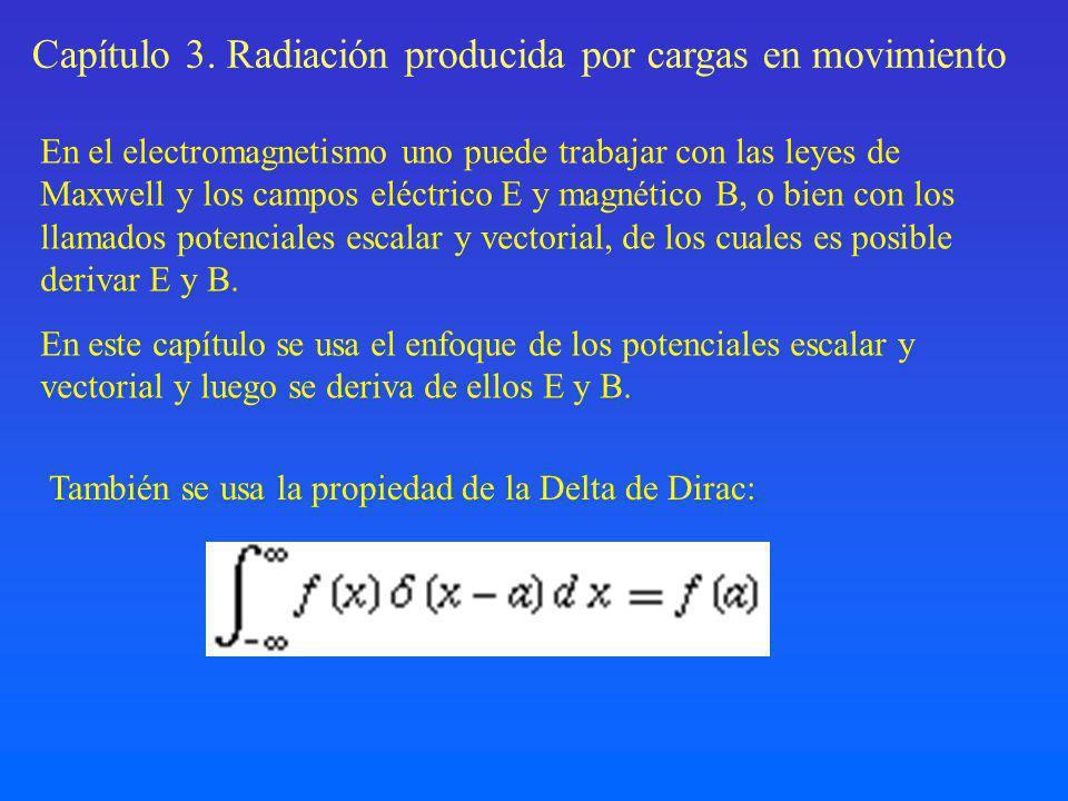 Integrando sobre el ángulo sólido, tenemos que la potencia total emitida es: Fórmula de Larmor para la emisión producida por una partícula acelerada.