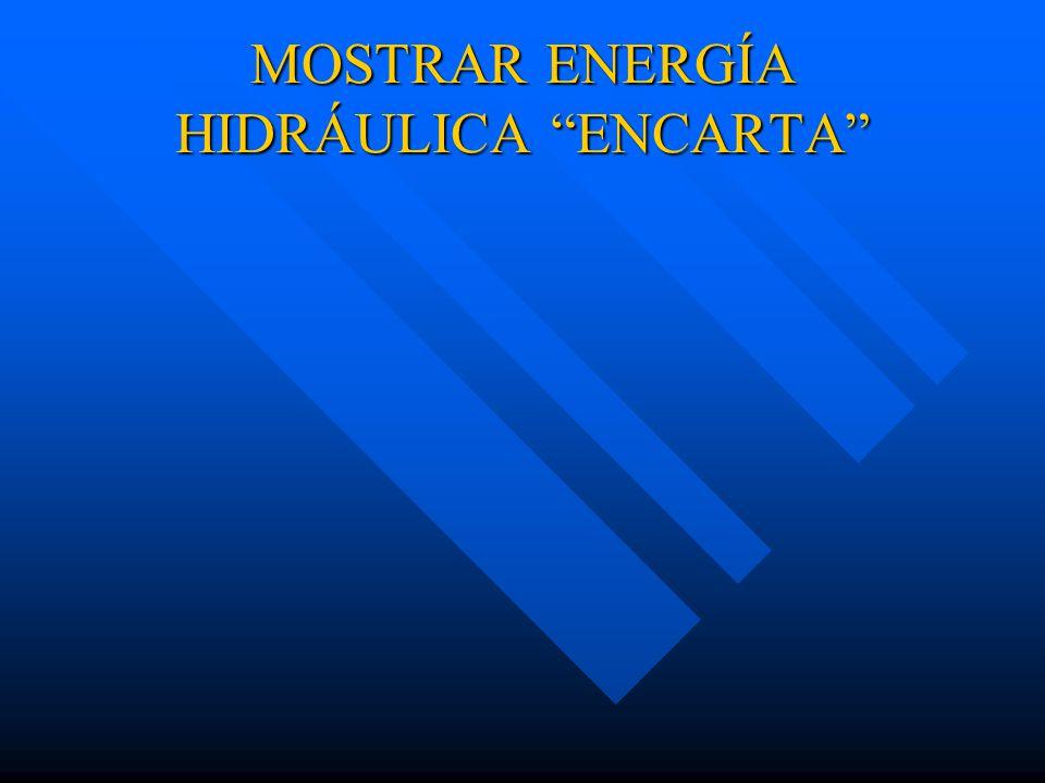 MOSTRAR ENERGÍA HIDRÁULICA ENCARTA
