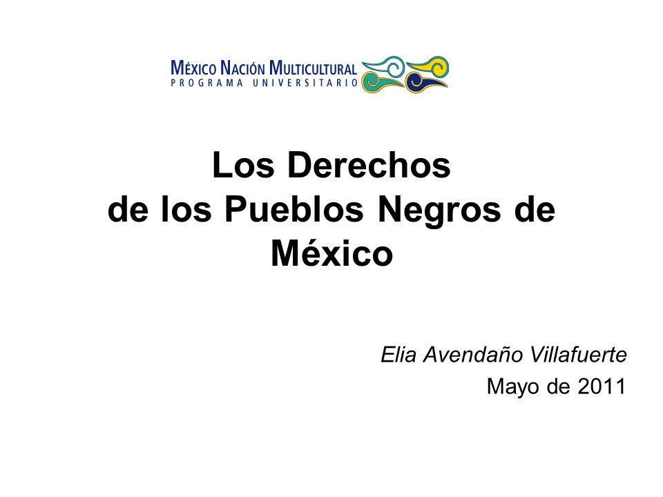 Los Derechos de los Pueblos Negros de México Elia Avendaño Villafuerte Mayo de 2011