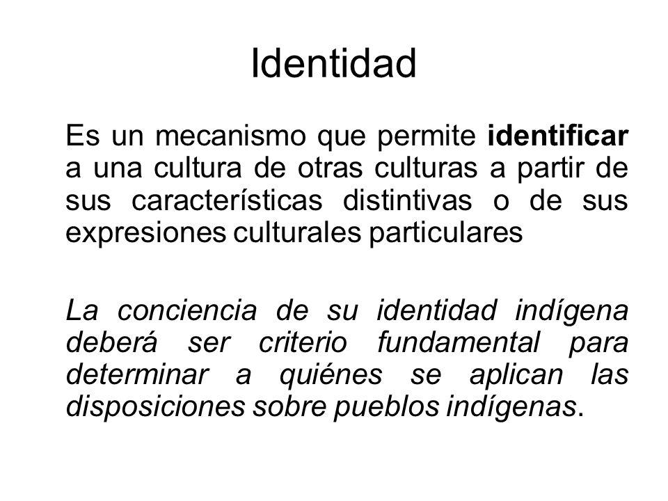 Identidad Es un mecanismo que permite identificar a una cultura de otras culturas a partir de sus características distintivas o de sus expresiones cul