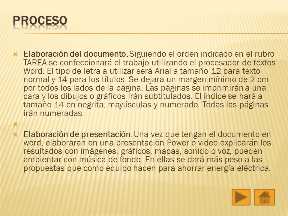 Elaboración del documento.