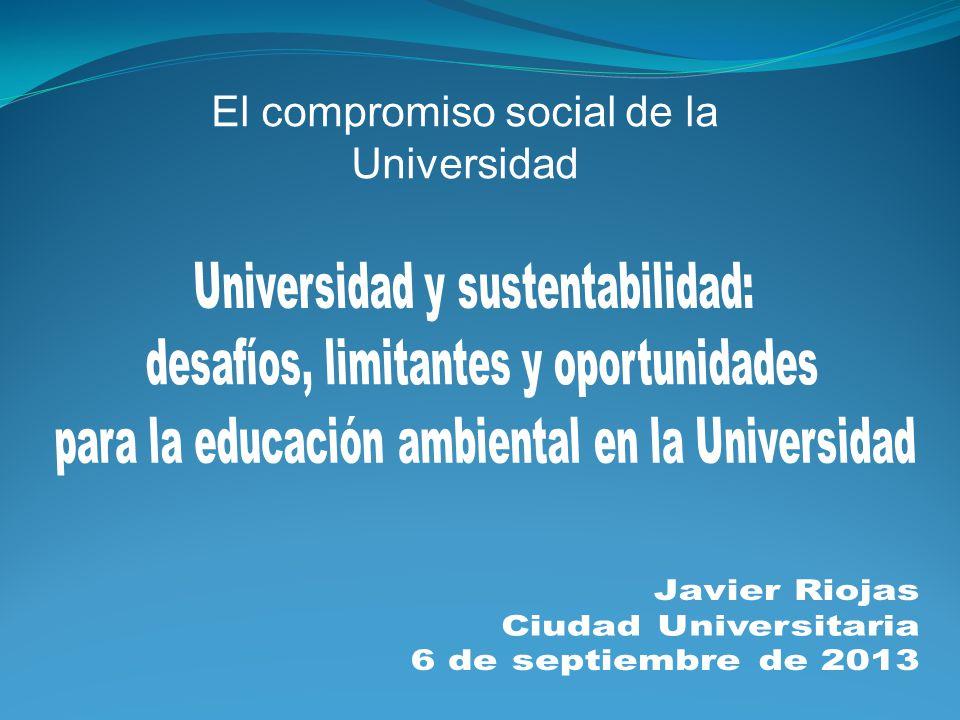 Desafíos y oportunidades para la Universidad -proyectos de difusión y SP con enfoque interdisciplinar.