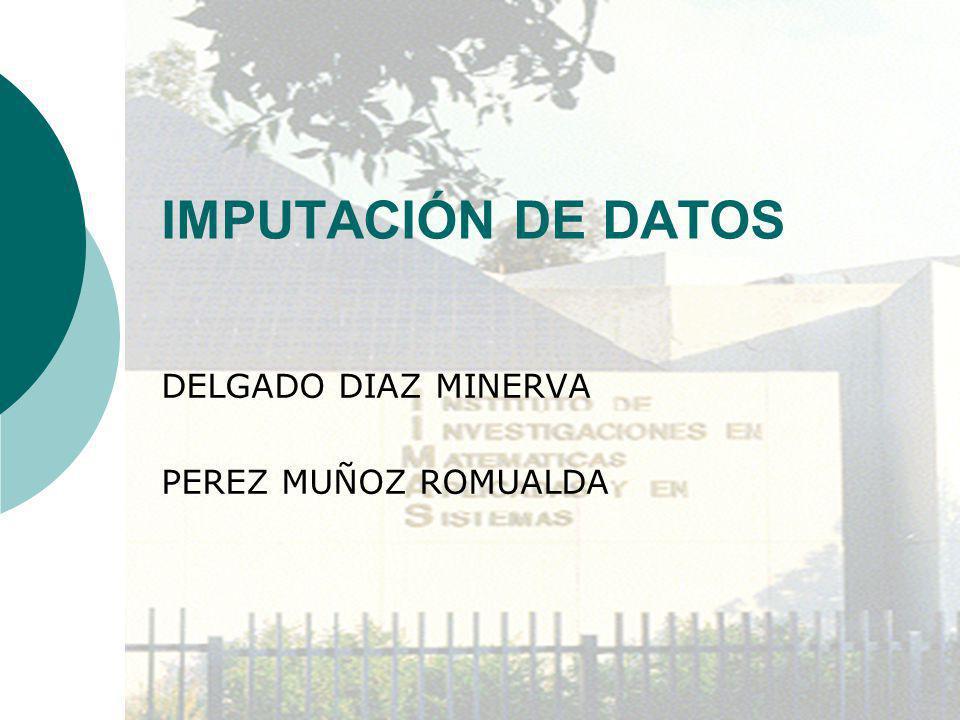 IMPUTACIÓN DE DATOS DELGADO DIAZ MINERVA PEREZ MUÑOZ ROMUALDA