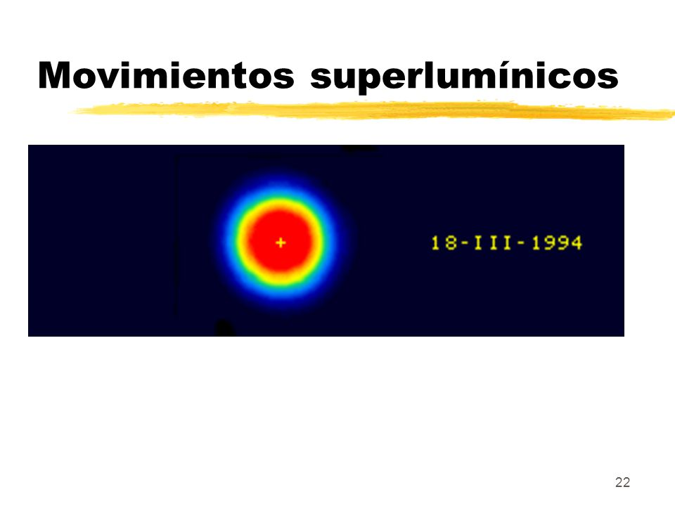 22 Movimientos superlumínicos