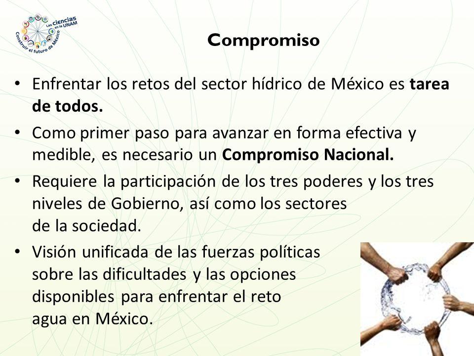 Compromiso Enfrentar los retos del sector hídrico de México es tarea de todos.