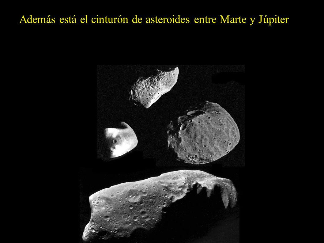 Además está el cinturón de asteroides entre Marte y Júpiter