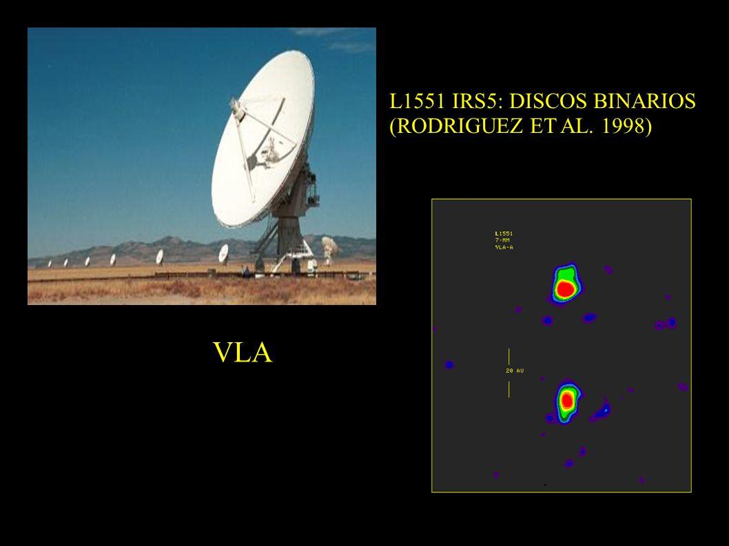 VLA L1551 IRS5: DISCOS BINARIOS (RODRIGUEZ ET AL. 1998)