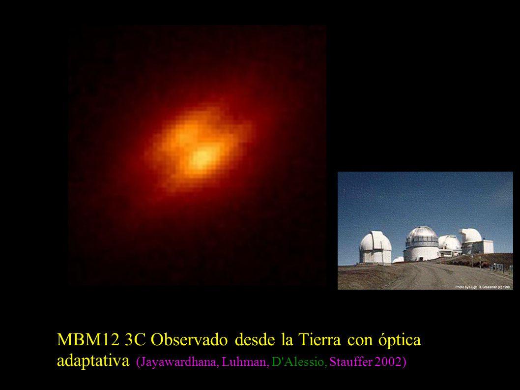 MBM12 3C Observado desde la Tierra con óptica adaptativa (Jayawardhana, Luhman, D'Alessio, Stauffer 2002)