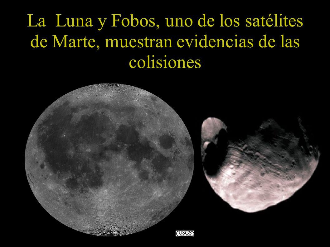 La Luna y Fobos, uno de los satélites de Marte, muestran evidencias de las colisiones