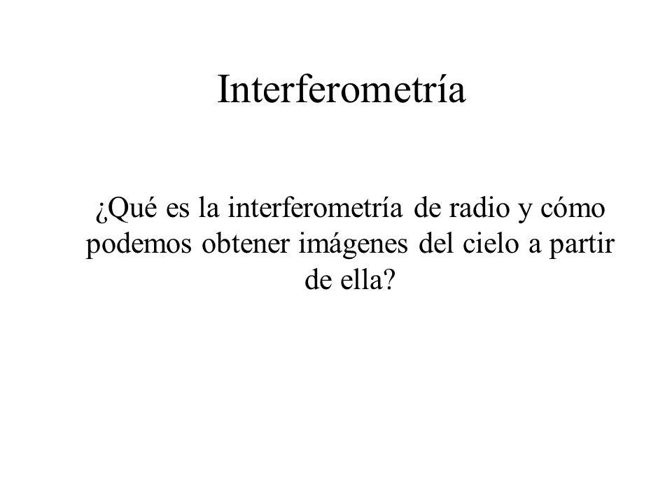 Interferometría ¿Qué es la interferometría de radio y cómo podemos obtener imágenes del cielo a partir de ella?