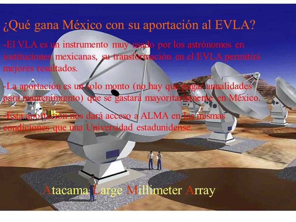 ¿Qué gana México con su aportación al EVLA.