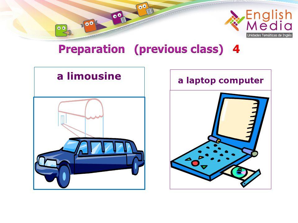 a limousine a laptop computer