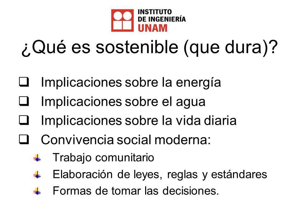 ¿Qué es sostenible (que dura).