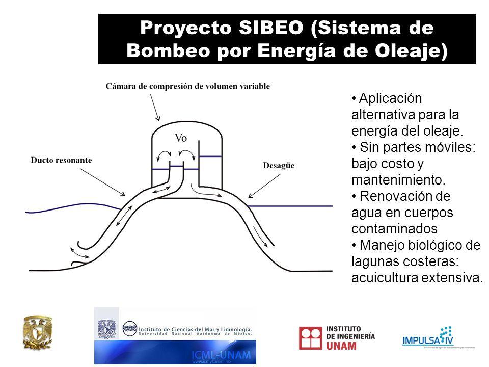 Proyecto SIBEO (Sistema de Bombeo por Energía de Oleaje) Aplicación alternativa para la energía del oleaje.