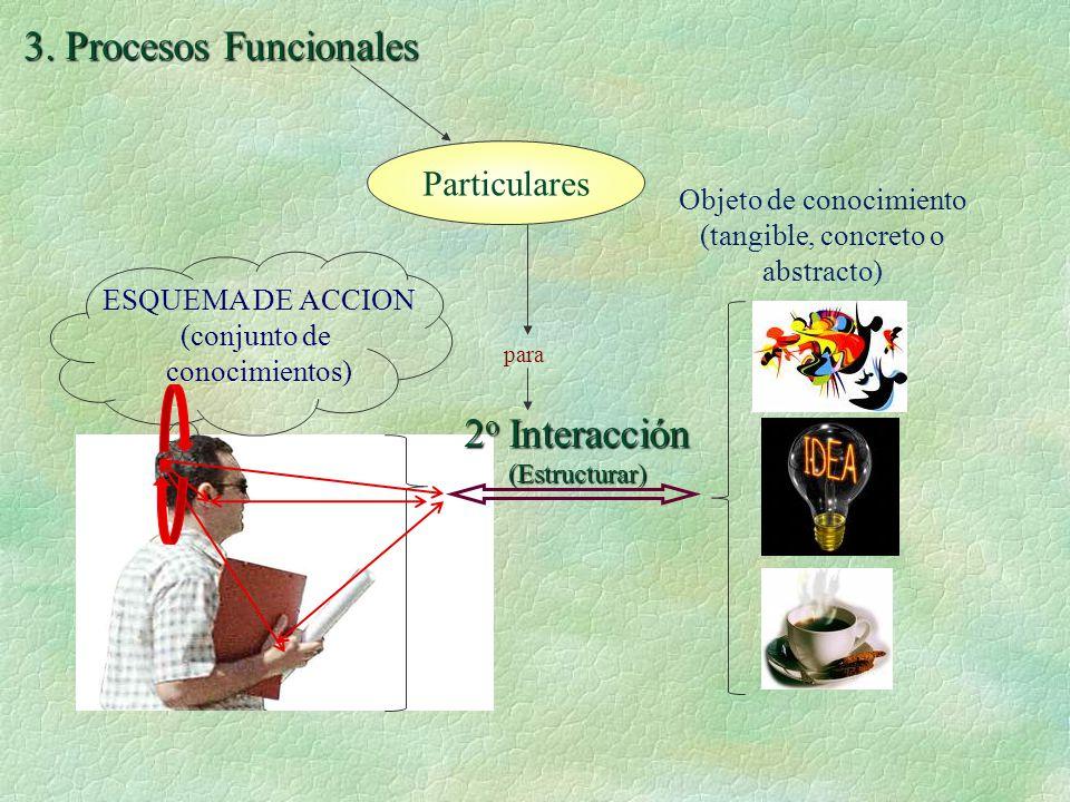 ESQUEMA DE ACCION (conjunto de conocimientos) 3.