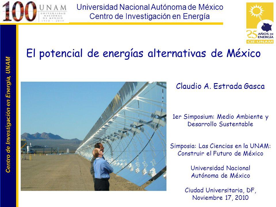 Centro de Investigación en Energía, UNAM Centro de Investigación en Energía, UNAM Universidad Nacional Autónoma de México Centro de Investigación en E