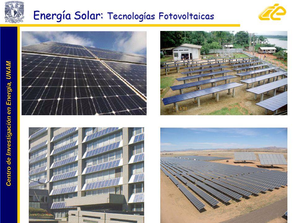Centro de Investigación en Energía, UNAM Centro de Investigación en Energía, UNAM 22 www.cie.unam.mx Energía Solar: Tecnologías Fotovoltaicas