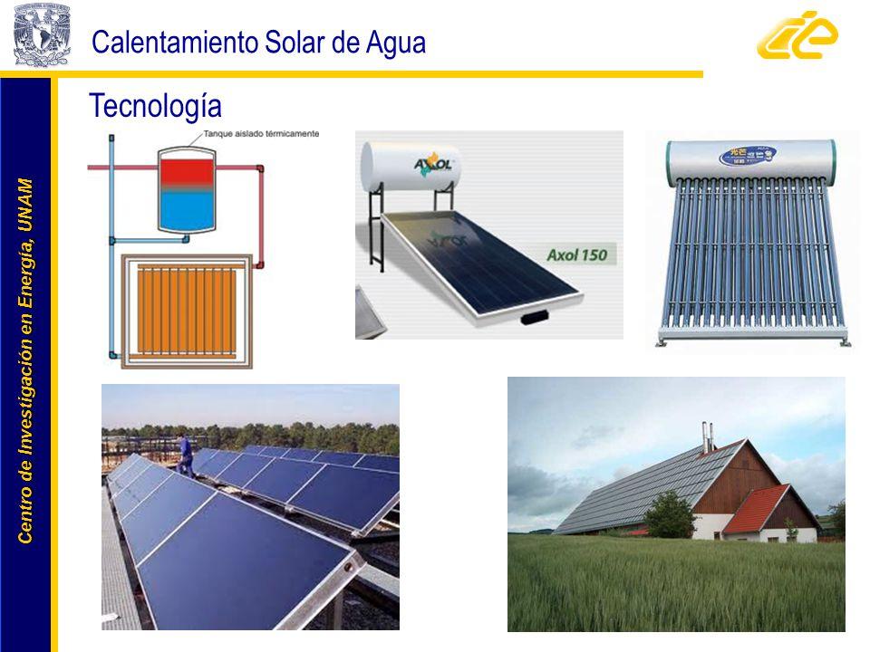 Centro de Investigación en Energía, UNAM Centro de Investigación en Energía, UNAM www.cie.unam.mx Tecnología Calentamiento Solar de Agua